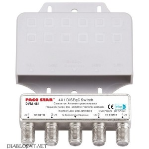 DISEqC ключ PACOSTAR DVM-481 4 порта